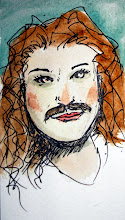 Photo: quick doodled todays Movember girl +Allison Sekuler sporting an undercover brother stache