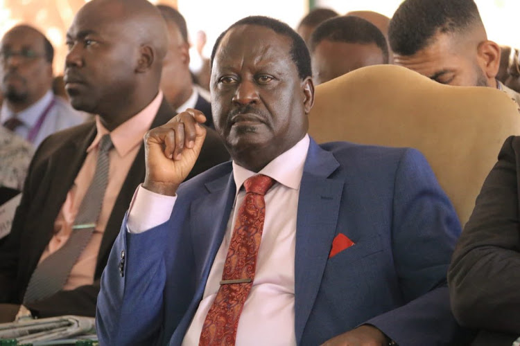ODM leader Raila Odinga.