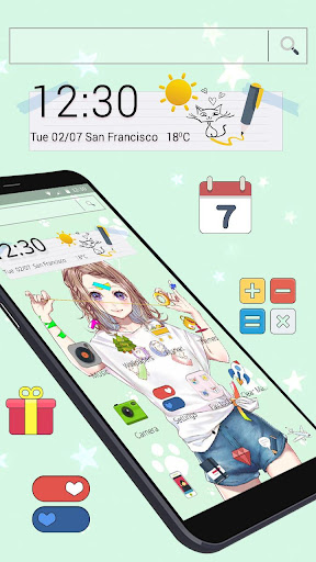 Download Summer Young Lovely Girl Theme 1.1.3 2