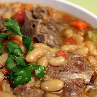 Pork Neck and Bean Stew.