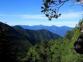 南アルプスアップ(右から仙丈ヶ岳・甲斐駒ヶ岳・北岳・観音岳など)