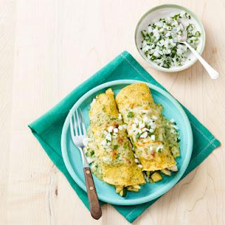 Chicken and Zucchini Enchiladas.