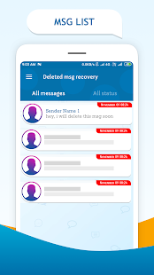 Deleted messages recovery : Notification history Screenshot