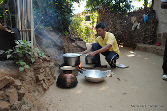 Photo: Our Trek Leader Chaitali and Kiran opted to stay back....so preparing the lunch is there responsibility ..and they success fully completed the task....