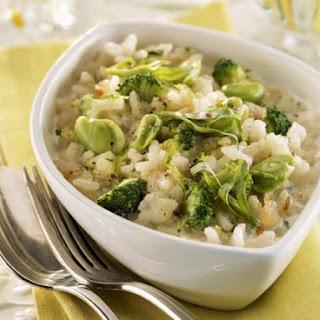 Broccoli and Broad Bean Risotto.