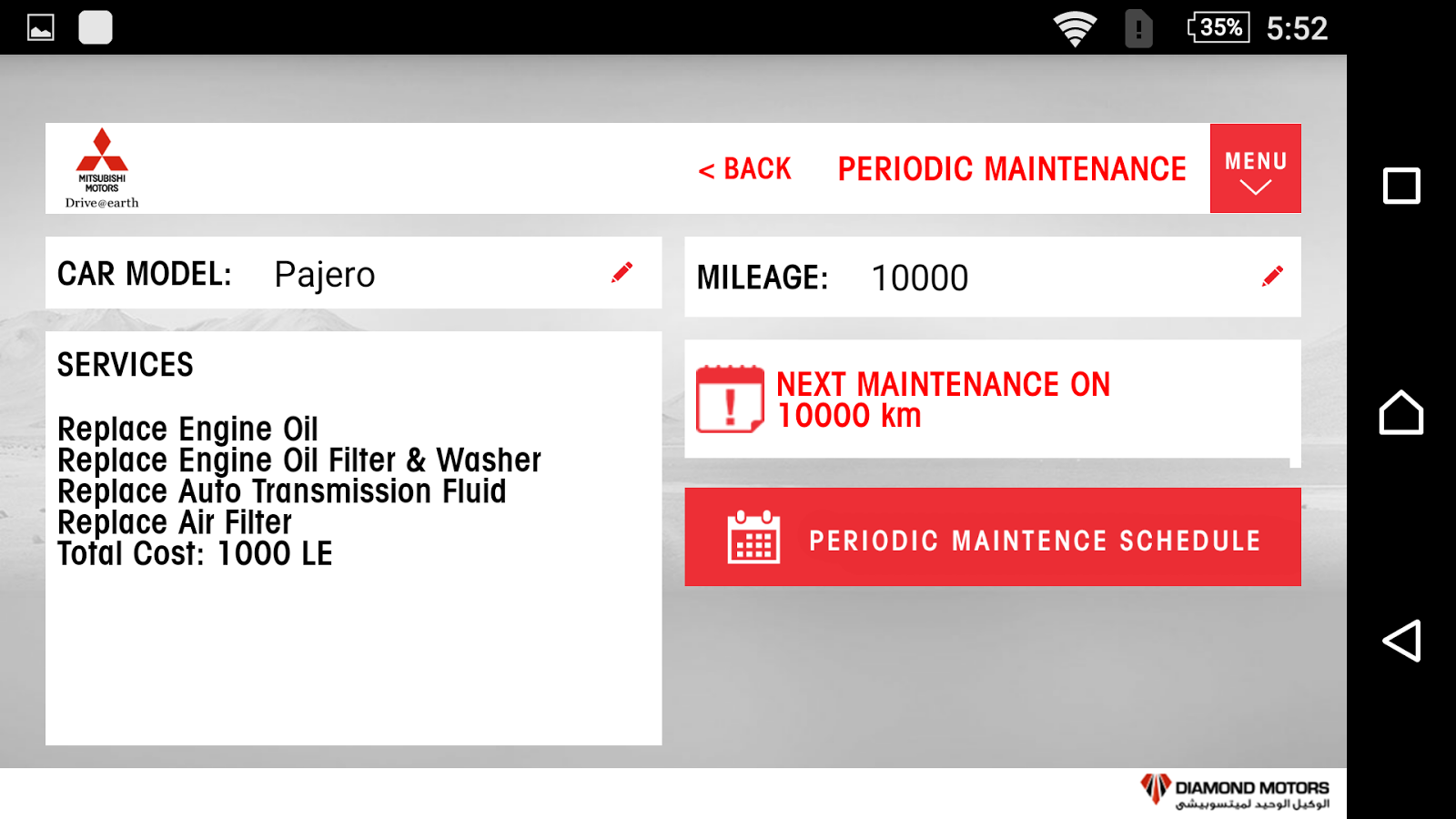 Mitsubishi Motors Egypt- screenshot