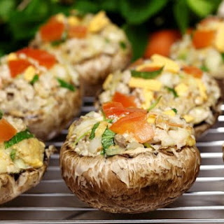 Stuffed Baby Portobello Mushrooms.