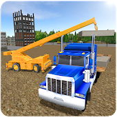 Construction Crane Hill SIM 3D