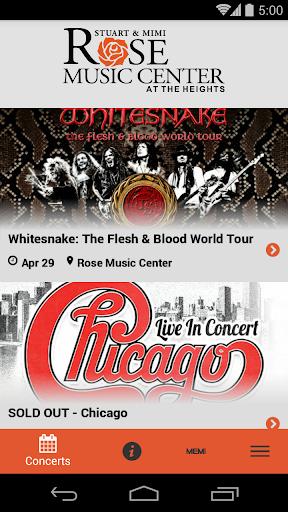 rose music center screenshot 1