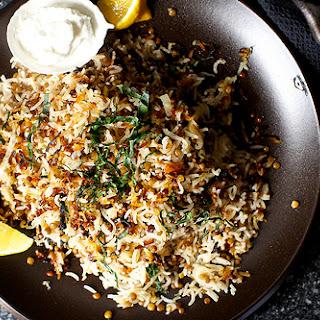Stuck-Pot Rice with Lentils and Yogurt Recipe