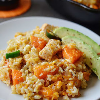 One Pot Chicken and Pumpkin Rice.