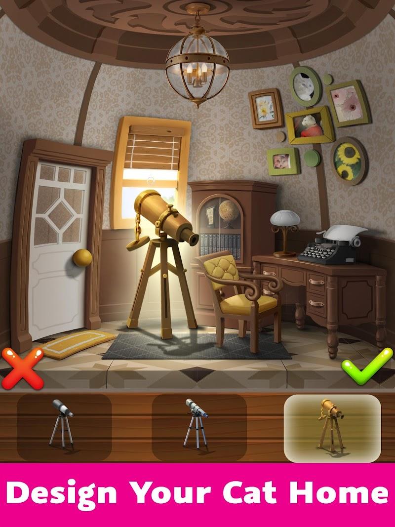 Cat Home Design: Decorate Cute Magic Kitty Mansion Screenshot 0