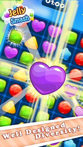 Jelly Cube Smash - Line Crush Square - screenshot