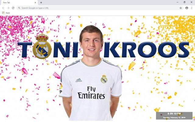 Toni Kroos New Tab & Wallpapers Collection