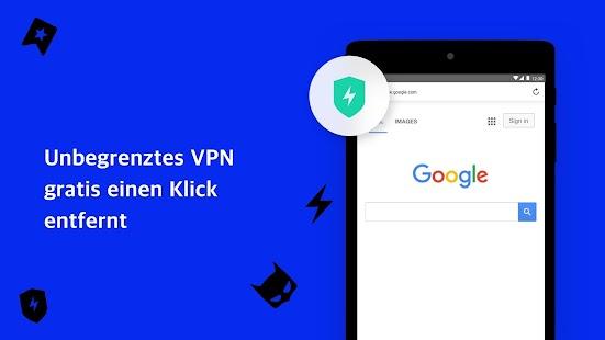 Aloha Browser mit gratis VPN Screenshot