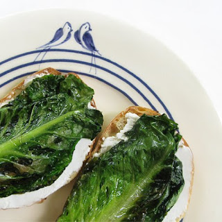 Braised Romaine Lettuce Crostinis
