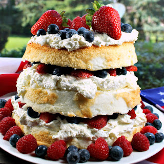 Patriotic Angel Food Cake