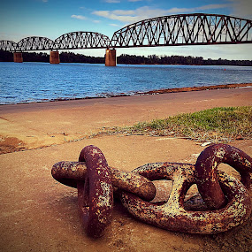 Chains by Lorna Littrell - Artistic Objects Industrial Objects ( rusty objects, industrial objects, landscape, nautical,  )
