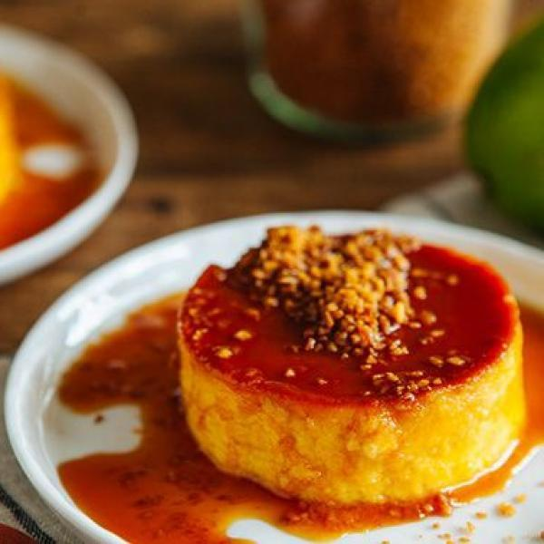 classic leche flan with a twist put toppings