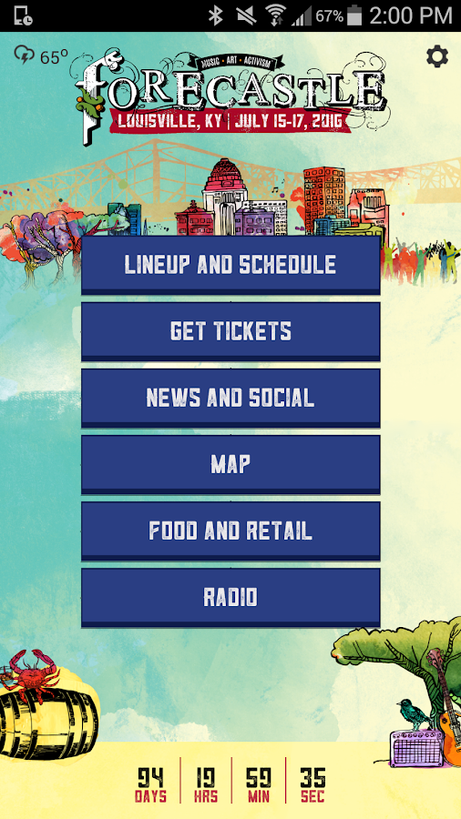 Forecastle Festival- screenshot