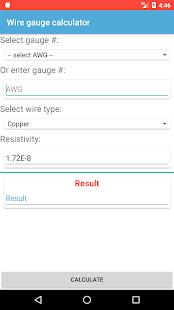 Wire gauge calculator apps on google play screenshot image greentooth Choice Image