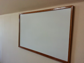 Photo: This white board hasn't been cleaned off in about 2 years!