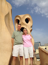 Photo: On the roof at La Pedrera