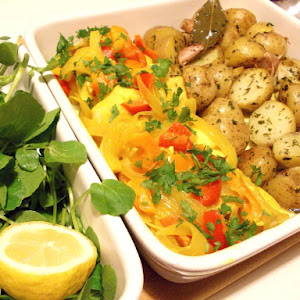 Ling Medallions With Saffron and Sauteed Potatoes