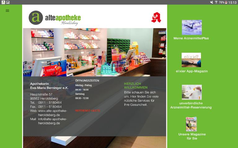 android Alte Apotheke Heroldsberg Screenshot 9
