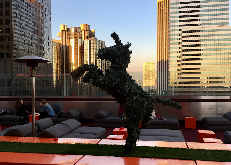 Topiary on the roof of the Standard.