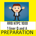 RRB NTPC 2020 1000 One liner Question and Answers icon