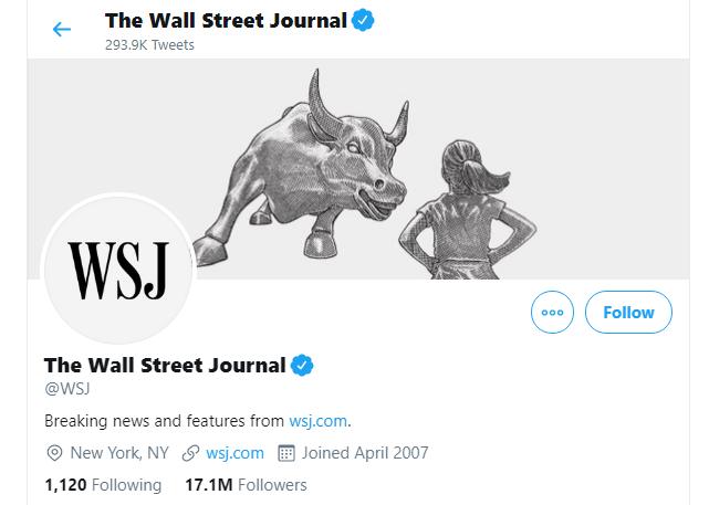 news accounts on Twitter