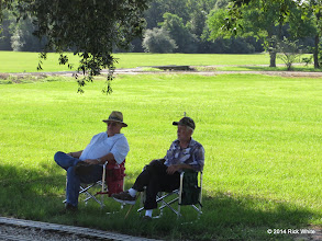 Photo: Gary and Gary watching the action.   McCoy is with cane and sitting will be all he can do for a few months.   HALS Public Run Day 2014-0920 RPW
