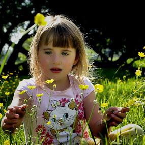 Dreaminng by Angel Weller - Babies & Children Children Candids ( field, child, trees.summer, flowers )