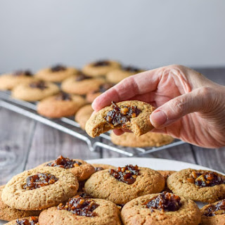 Delicious Thumbprint Date Nut Cookies.