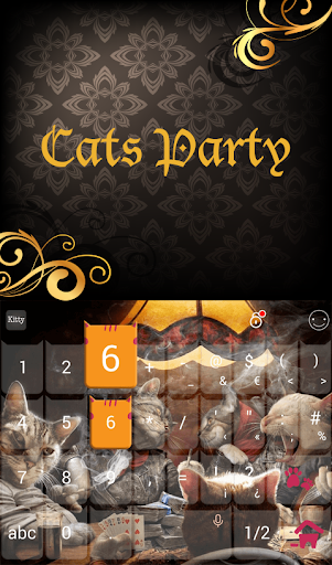 Cats Party Keyboard Theme