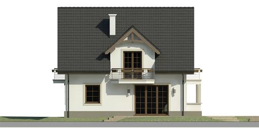Dom przy Cyprysowej 40 - Elewacja prawa