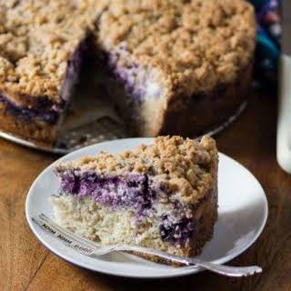 Blueberry Coffee Cream Cheese Cake.
