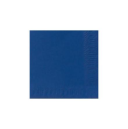 Servett 33x33 3-lag blå 125/fp