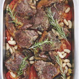 Mediterranean Lamb and Vegetable Bake.