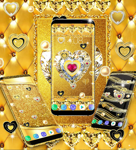 Gold live wallpaper 2020 android2mod screenshots 6
