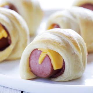Mini Bacon Crescent Dogs.