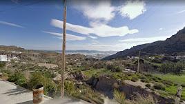 Vista de la Ribera de los Molinos desde Huebro, con el Cabo de Gata al fondo. Imagen de G. Maps