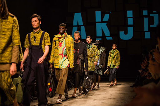 Runway looks by AKJP at the Generation Africa show at Pitti Uomo 89 in Florence, Italy.