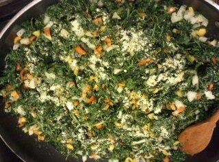 In a large skillet add butter & olive oil, melt together, then add chopped...