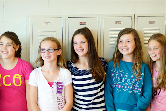 "Photo: Mia Losey, Cassie Boas, Kylee McCumber, Kassie Diaz and Olivia Gallo during the filming for Channel 7 News ""Class Act"" award. October 3, 2013"