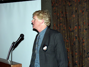 Photo: Rod Lancefield of HTS spoke about their Clean Energy Geothermal Table Top display