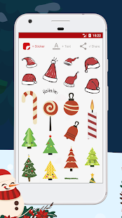 Greeting Card Christmas Sticker & New Year 2018 - náhled