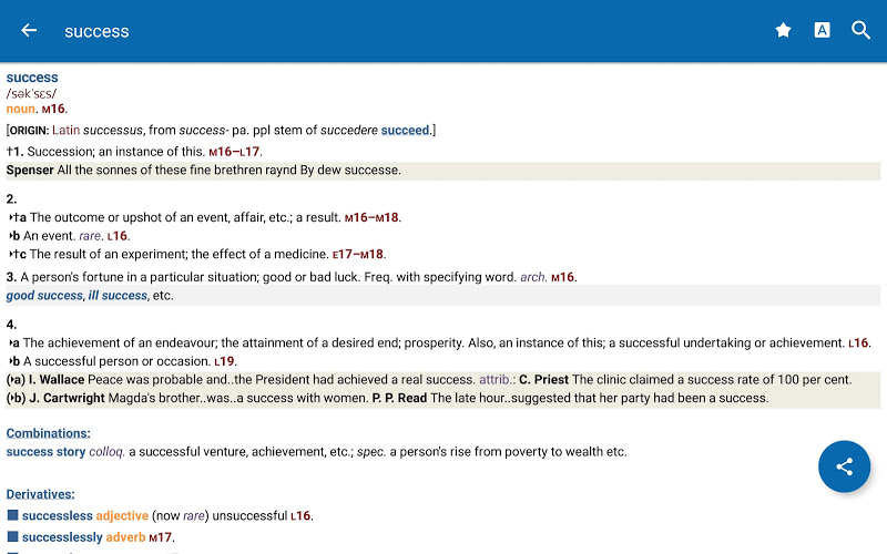 Oxford Shorter English Dictionary Screenshot 16