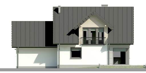 Dom przy Wiosennej 11 - Elewacja tylna